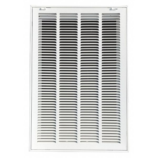 Zoro Select Filtered Return Air Grille ,  16 X 25 ,  White ,  Steel 4MJT5