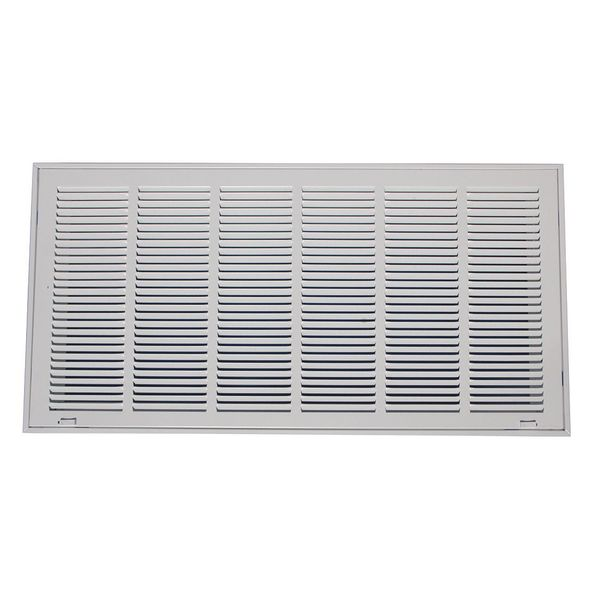 Zoro Select Filtered Return Air Grille ,  20 X 30 ,  White ,  Steel 4MJU1