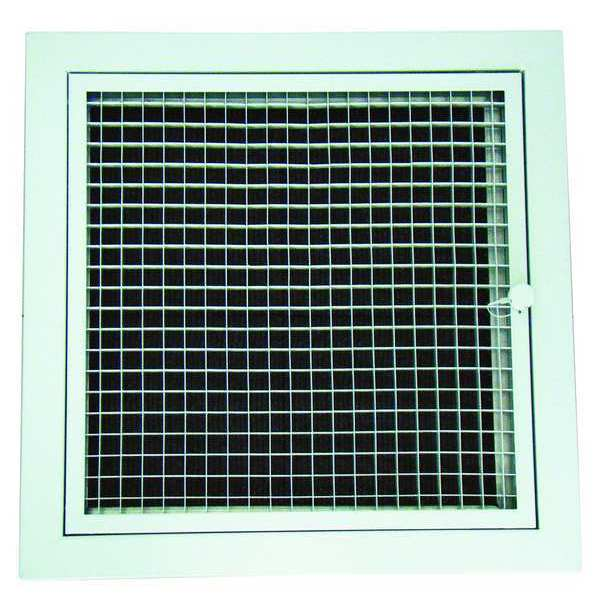 """Zoro Select 22"""" Square Perforated Return Air Grille,  White 4MJW6"""
