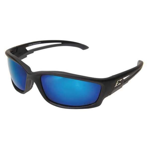 Edge Eyewear Kazbek Safety Glasses With Black Frame And Blue Scratch-Resistant Lens TSKAP218
