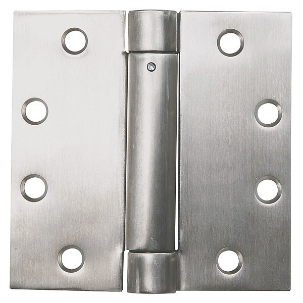 Zoro Select 2 1/4 in W x 4 1/2 in H Stainless steel Spring Hinge 4PA89