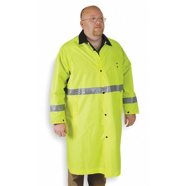 Condor Raincoat, Hi-Vis Lime/Black, M 4PCW6