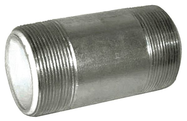 "Zoro Select 1"" MNPT x 4"" TBE Galvanized Steel Dielectric Nipple Sch 40 4PFZ6"