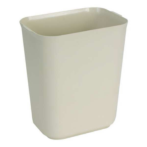 Tough Guy 7 gal. Fiberglass Rectangular Trash Can ,  Beige 4PGL6