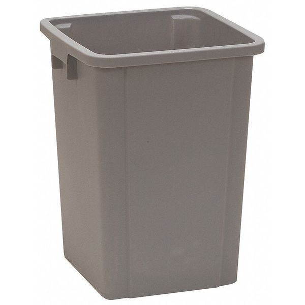Tough Guy 19 gal. Plastic Square Trash Can ,  Gray 4PGR8