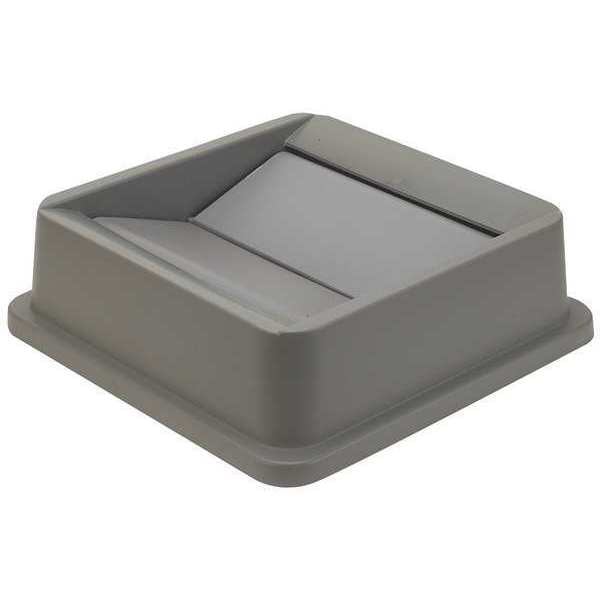 Tough Guy Square  Gray  Trash Can 4PGR4
