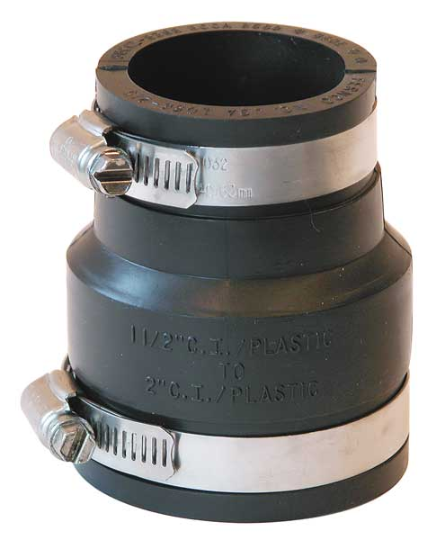 """Fernco Flexible Coupling, For Pipe Size 2x1-1/2"""" 1056-215"""