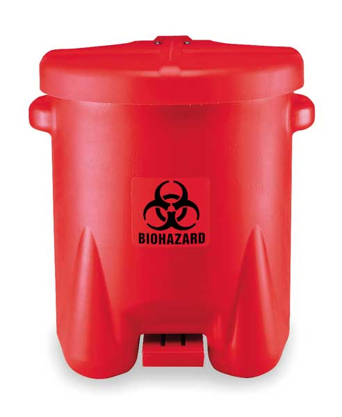 Eagle Biohazard Step On Waste Container, Red 947BIO