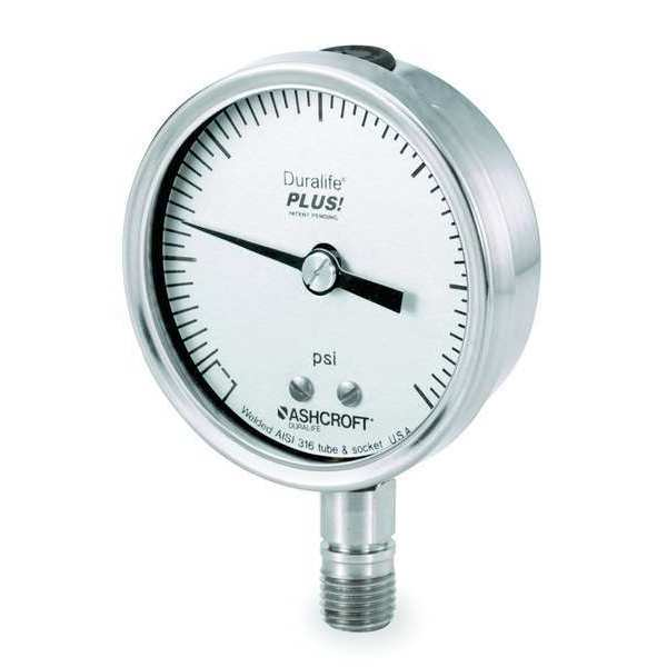 Ashcroft Pressure Gauge, 0 to 5000 psi, 3-1/2In 351009SW02LXLL5000