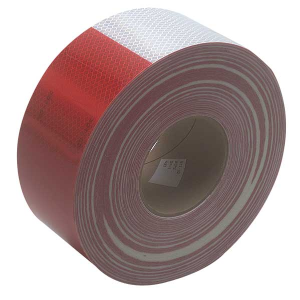 3M Reflective Tape,  3 in. Wht/Red,  Truck 983-32 ES