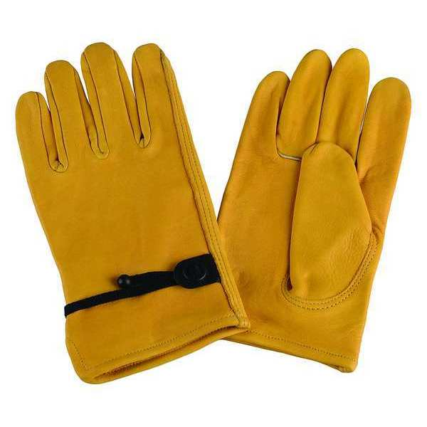 Condor Drivers Gloves, Cowhide, XL, Gold, PR 4TJY7