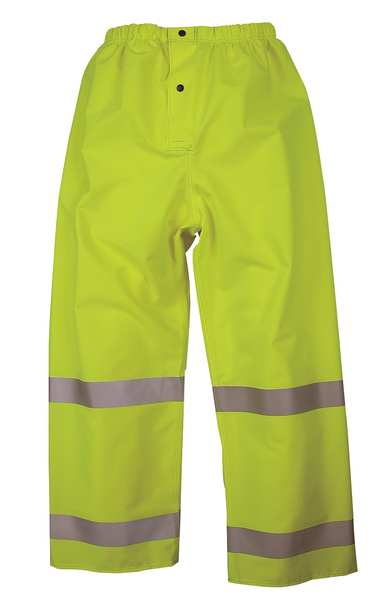 Nasco Rain Pants, Hi-Vis Yellow/Green, 3XL 101PFY3