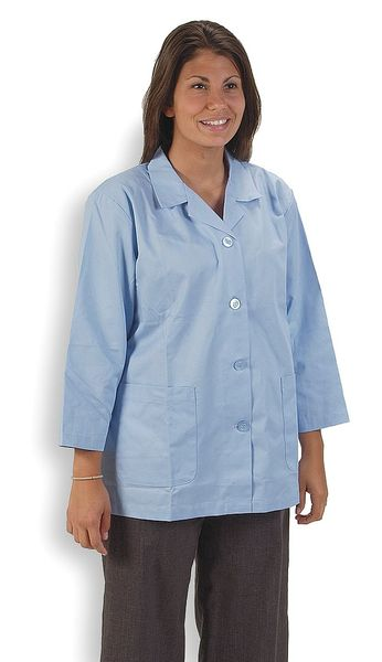 Condor Collared Lab Jacket, Female, L, Light Blue 4TVZ4