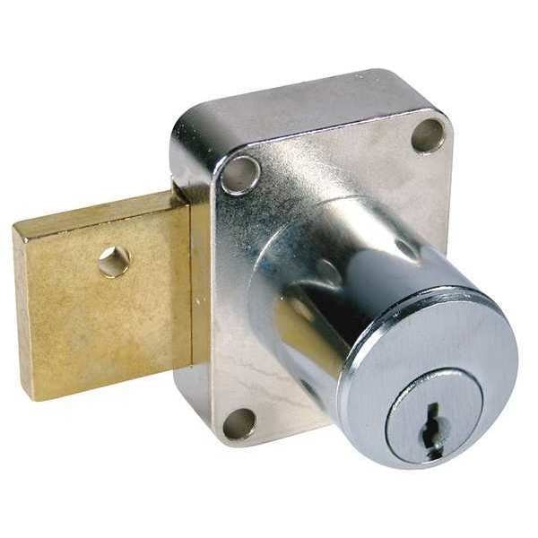 Compx National Cabinet Dead Bolt,  Key 107,  Dull Chrome C8173-107-26D