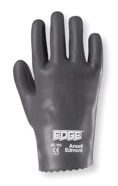 Ansell Coated Gloves, Size 9, Blue/Gray, PR 40-105