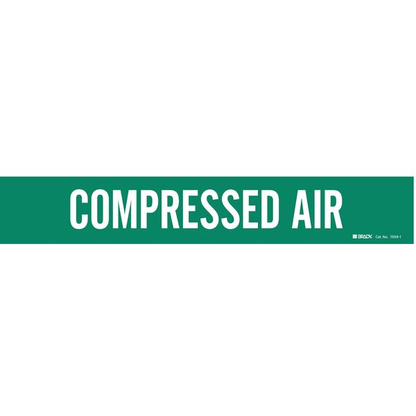 Brady Pipe Mrkr, Compressed Air, 2-1/2to7-7/8 In 7059-1