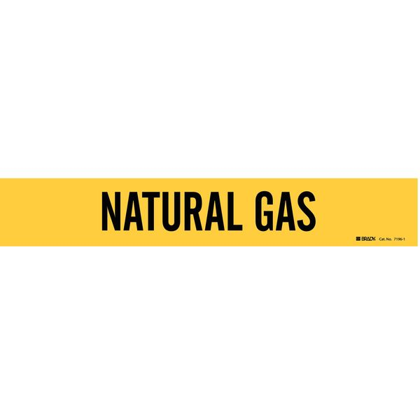 Brady Pipe Markr, Natural Gas, Y, 2-1/2to7-7/8 In 7196-1