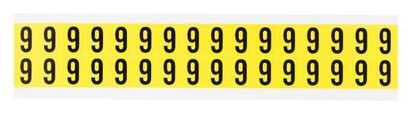Brady Carded Numbers and Letters, 9, PK32 3420-9