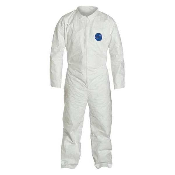 Dupont Collared Disposable Coveralls ,  4Xl ,  White ,  Tyvek(R) 400 ,  zipper TY120SWH4X002500