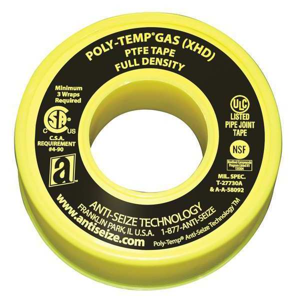 Anti-Seize Technology Gas Line Sealant Tape, 3/4 x 520 In 46350A