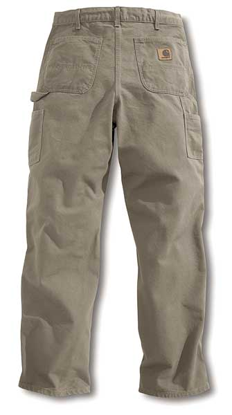 Carhartt Work Pants, Washed Desert, Size34x30 In B11-DES 34 30