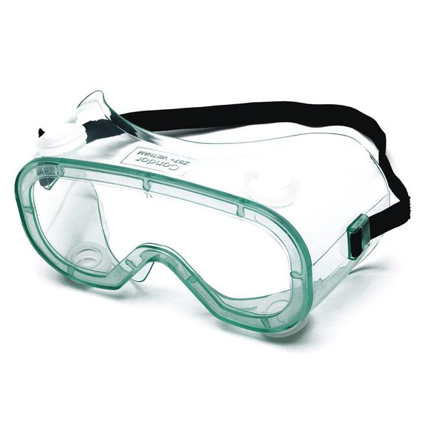 Condor Safety Goggles,  Clear Uncoated Lens,  Platoon Series 4VCF6