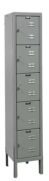 Hallowell Box Locker,  12 In. W,  12 In. D,  66 In. H,  Opening Depth: 11 in U1226-5A-HG