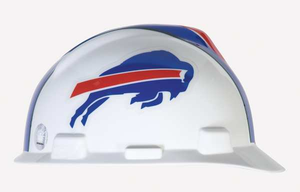 Msa NFL V-Gard Hard Hat,  Buffalo Bills,  Red/White/Blue 818387