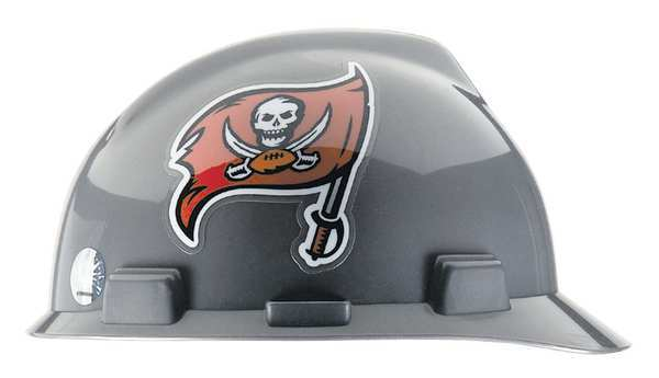Msa Front Brim NFL Hard Hat,  Type 1,  Class E,  One-Touch (4-Point),  Gray 818412