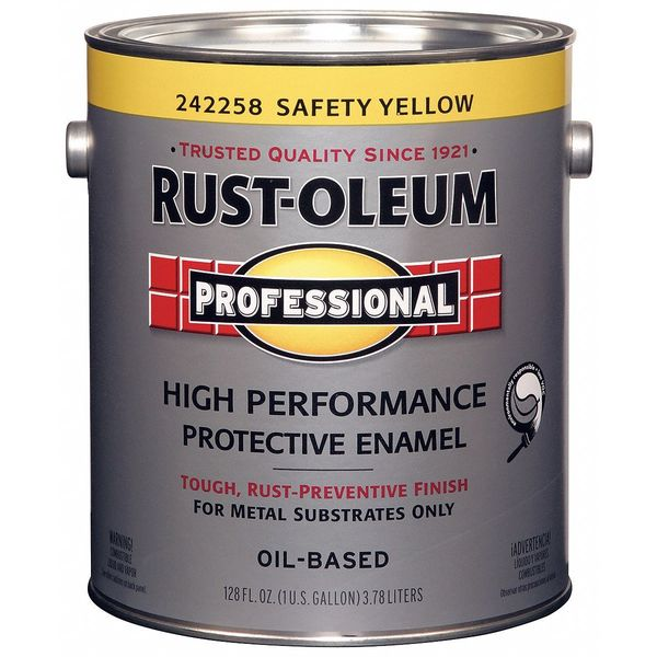 Rust-Oleum 1 gal. SAFETY YELLOW Glossy Latex Interior/Exterior Paint 242258
