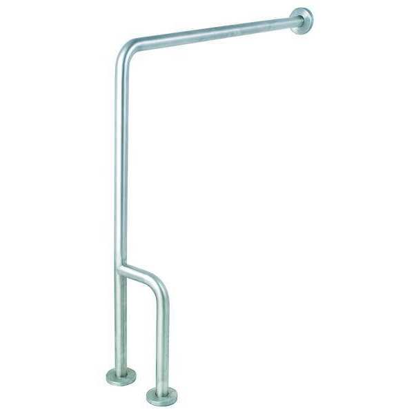 Zoro Select 30 in Length,  Wall Mounted,  Right,  Stainless Steel,  Satin 4WMG8