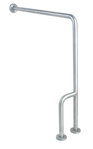 Zoro Select 30 in Length,  Wall Mounted,  Left,  Stainless Steel,  Satin 4WMH1