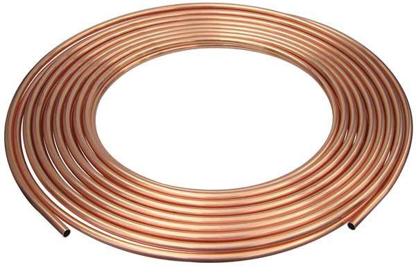 "Mueller Industries 3/8"" OD x 100 ft. Coil Copper Tubing Type ACR D 06100P"