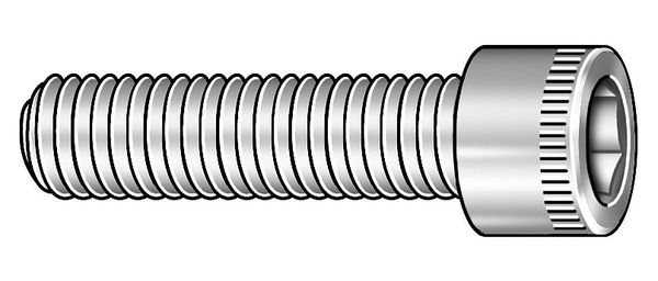 Zoro Select M2-0.40 x 3mm A2 Stainless Steel Socket Head Cap Screw,  100 pk. 6DA82