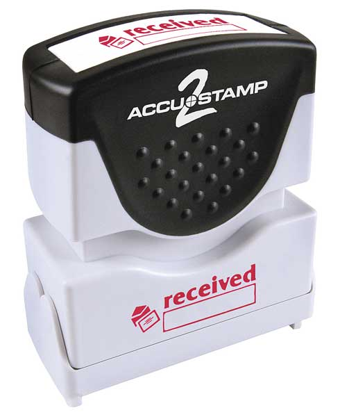 "Accustamp 2 Microban Message Stamp,  Received,  5/16"" 038835"