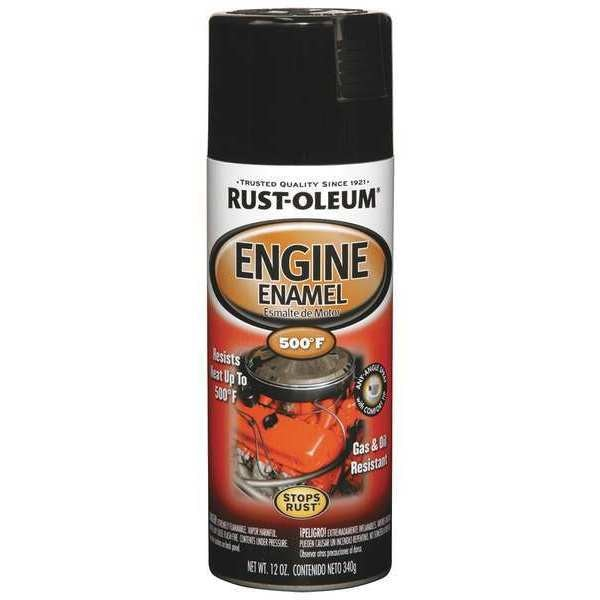 Rust-Oleum 12 oz. Gloss Black Engine Enamel 248932