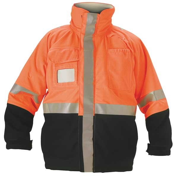 Nasco Flame Resistant Jacket,  Fluorescent Orange/Navy,  Nomex(R),  L 5503JNFO102L