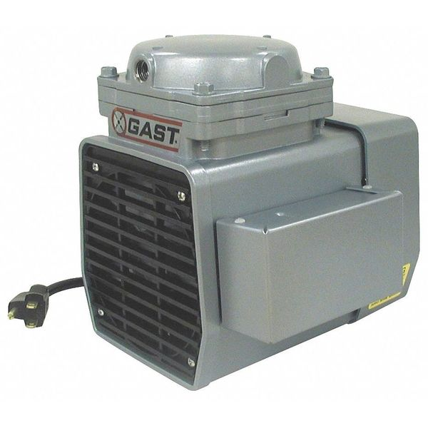Gast Compressor/Vacuum Pump, 1/3 HP, 50/60 Hz,  DOA-P707-FB