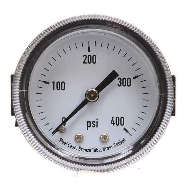 Zoro Select Panel Mount Pressure Gauge, U Clamp, 2 In 4CEZ2