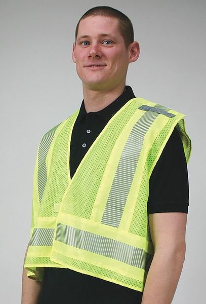 Condor Vest, Public Safety, Polyester, Lime, 3XL 4CWF1