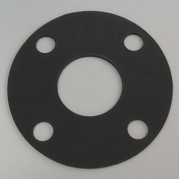 Zoro Select Flange Gasket, Full Face, 3 In, Viton 4CYV8