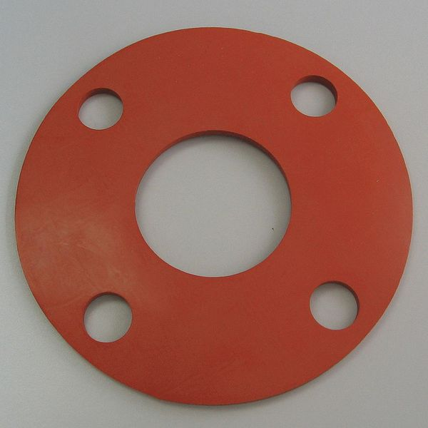 Flange Gasket, Full Face, 3 In, Silicone