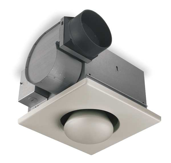 Broan Ceiling Bathroom Fan,  70 cfm cfm,  4 in Duct Dia.,  120V AC,  No 162