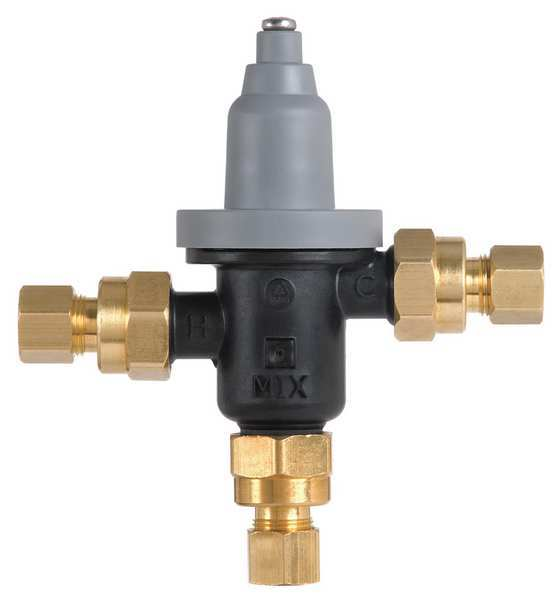 "Bradley Thermostatic Valve for Faucet 5 GPM,  Inlet Size: 3/8"" S59-4000A"