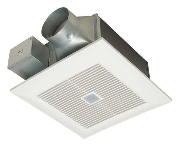 Panasonic Ceiling Bathroom Ventilation Fan,  80/110 cfm cfm,  120V AC,  No FV-08-11VFM5