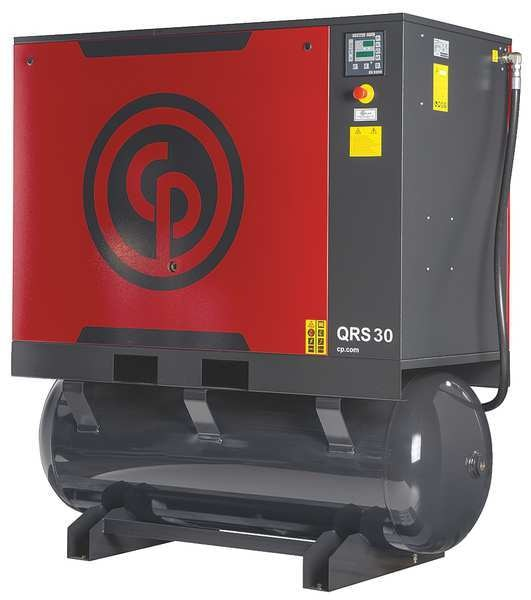 Chicago Pneumatic Rotary Screw Air Compressor w/Air Dryer QRS 30 HPD