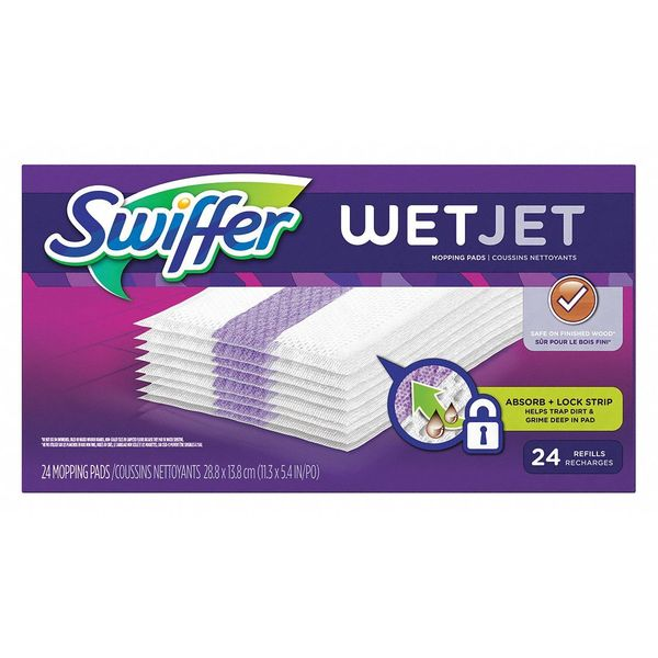 Swiffer Wet Jet Refill Mopping Pads,  Cloth,  PK4 8443