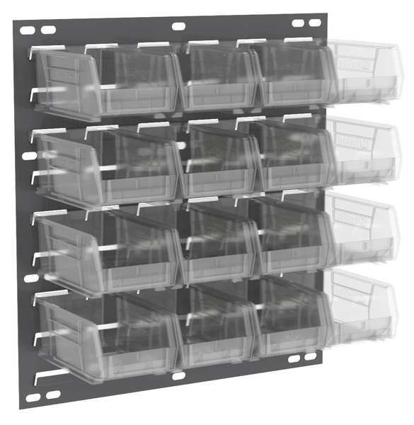 Akro-Mils Louvered Panel,  18 x 4-5/8 x 19 In,  Clear 30618220SC
