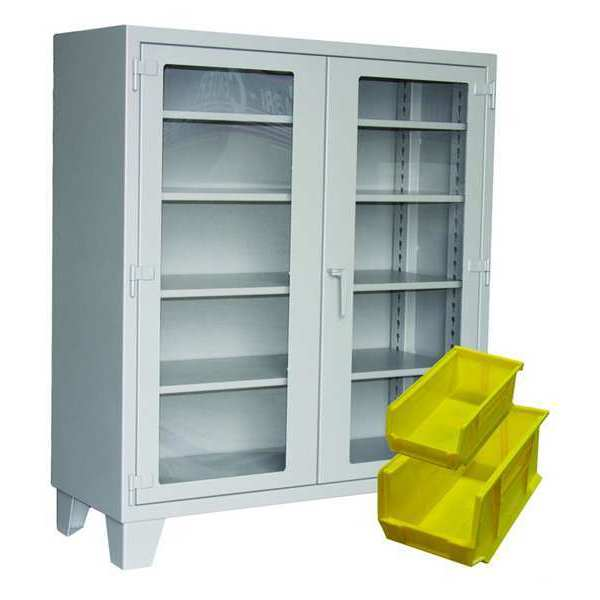 """Greene Manufacturing, Inc. Shelving Cabinet, 78"""" H, 54"""" W, Charcoal EX-734-1BS5-CSP-CFG2"""