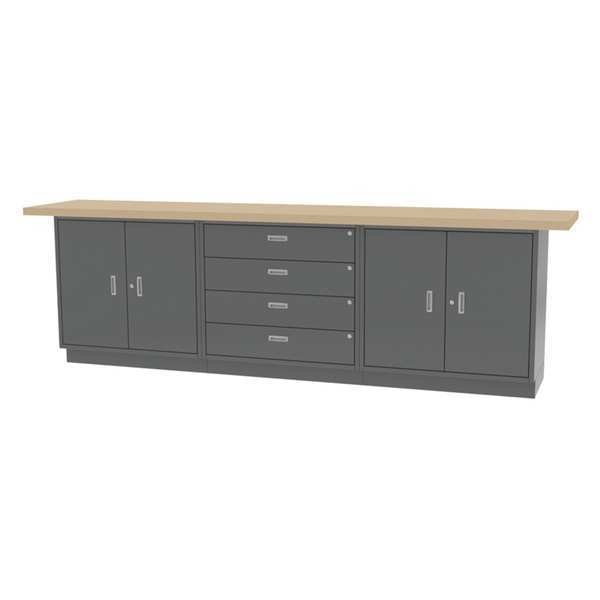 "Greene Manufacturing, Inc. Cabinet Bench, Butcher Block, 120"" W, 24"" D CBL-120-21-M"